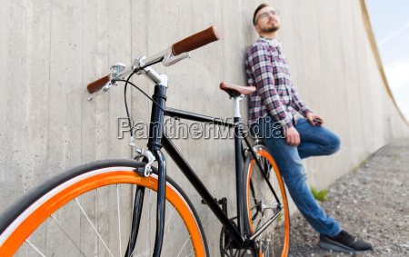 close up of hipster fixed gear