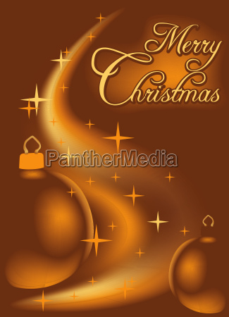 abstract christmas background with baubles