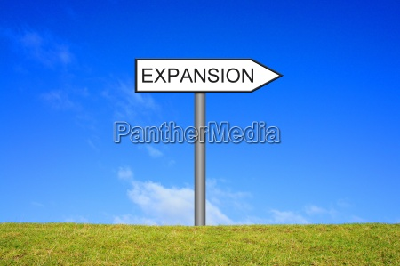 signpost sign shows expansion