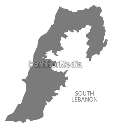 south lebanon map grey