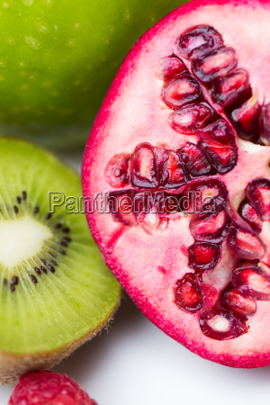 close up of ripe pomegranate and