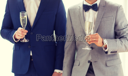 close up of male gay couple