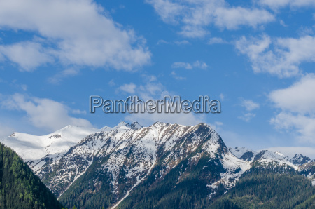 mountains with blue sky