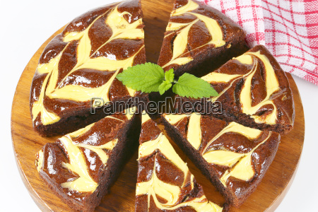 chocolate cake with cheese