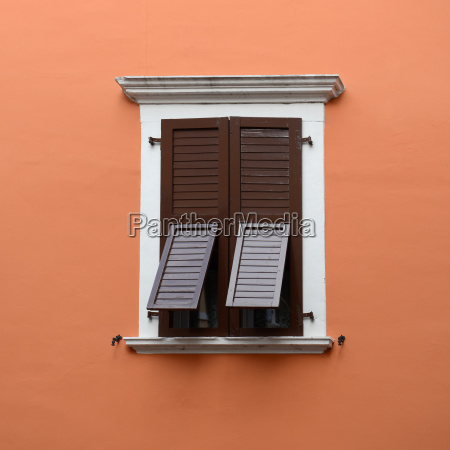closed window and partly open