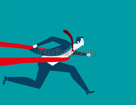 businessman successful in a finishing line