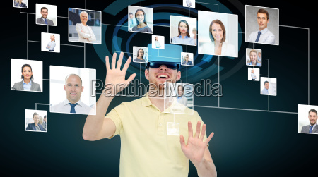 happy, man, in, virtual, reality, headset - 20008990