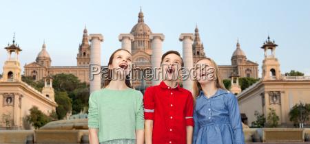 amazed children over national museum of