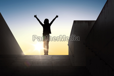 silhouette of woman or girl showing