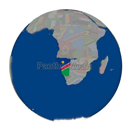 namibia on political globe