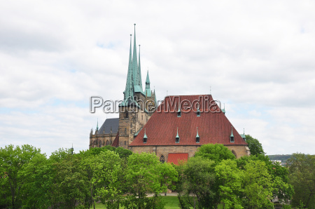 cathedral and severi church in erfurt