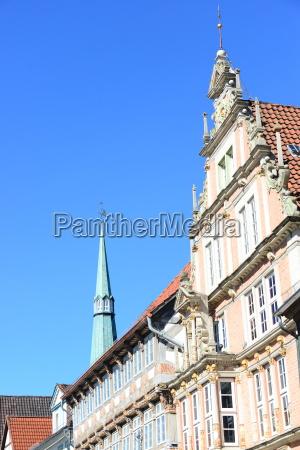 house facades in hameln lower
