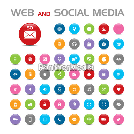 social media buble icons