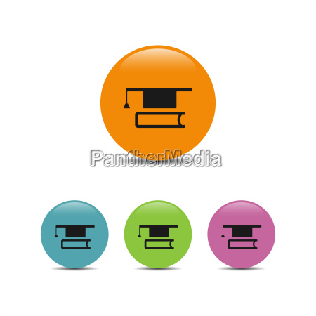 mortarboard with book icon
