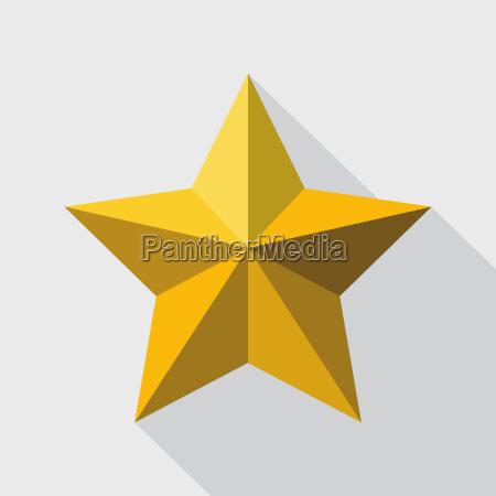 golden star flat style