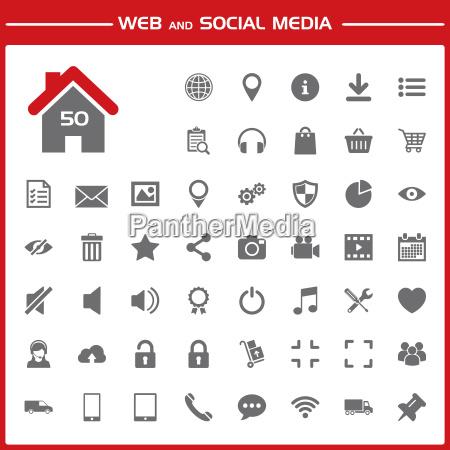 web and social media icons set
