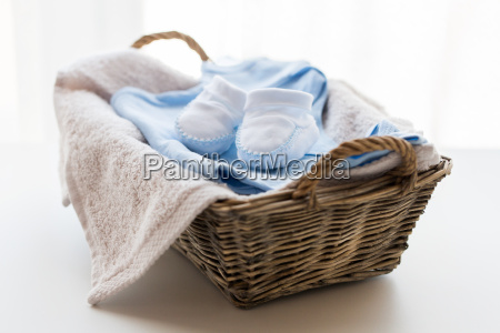 close up of baby clothes for