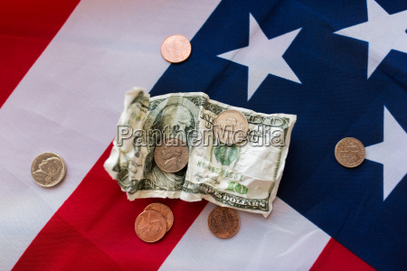 close up of american flag and