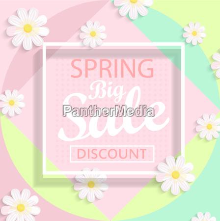 modern geometric pastel spring sale design