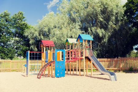 climbing frame with slide on playground