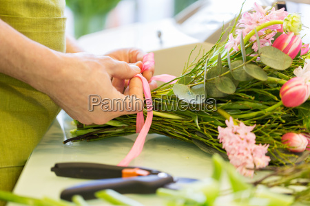 close up of florist man with