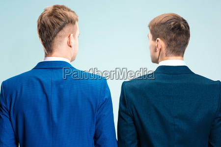two young stylish men in a