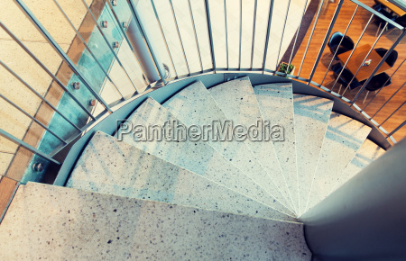 close up of stone spiral staircase