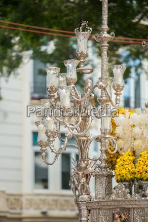 holy week in malaga spain ornated