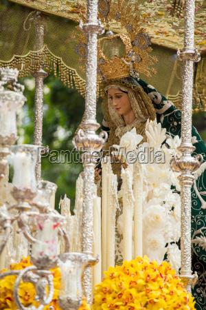 holy week in malaga spain virgin