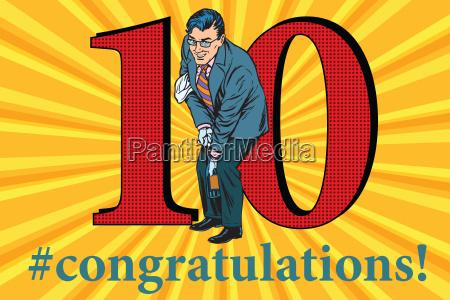 congratulations, 10, anniversary, event, celebration - 20102212