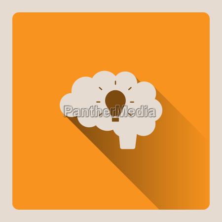 brain thinking of an idea