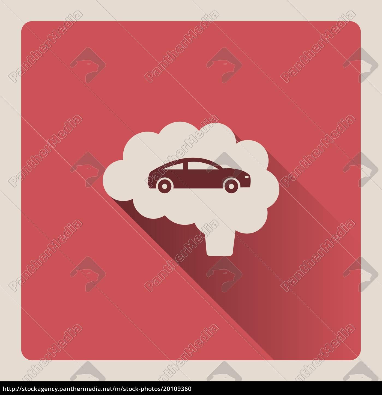 brain, thinking, in, car, illustration, on - 20109360