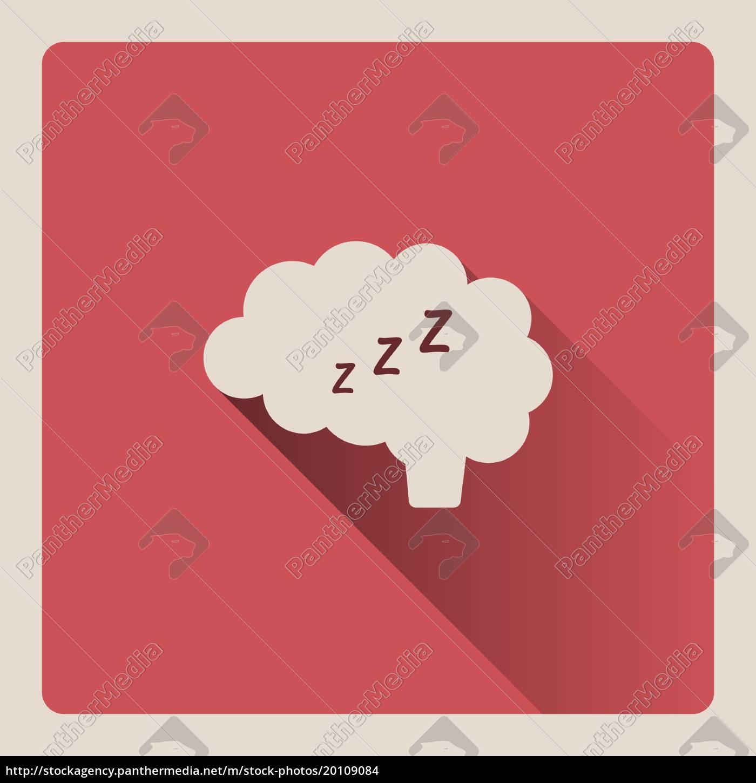 brain, thinking, in, sleep, illustration, on - 20109084