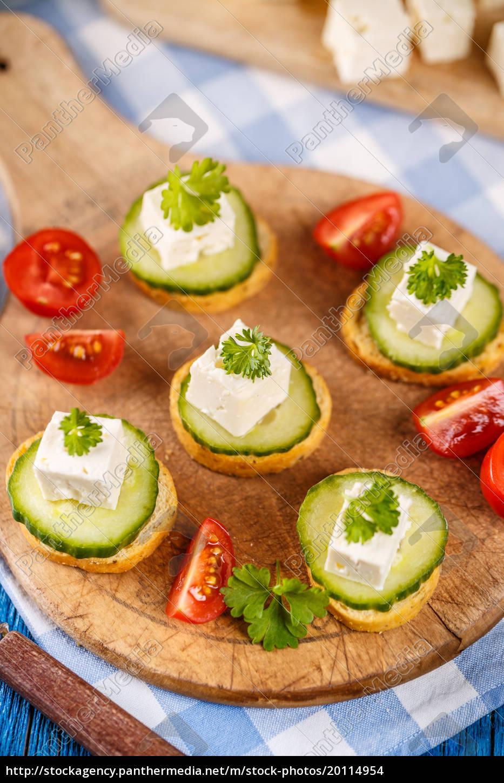 bruschetta, with, feta, cheese - 20114954