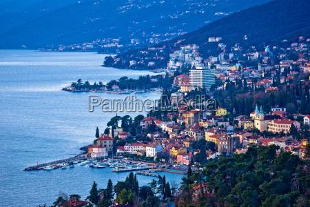 opatija riviera bay bay and coastline