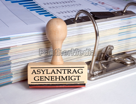 asylum application approved stamp in the