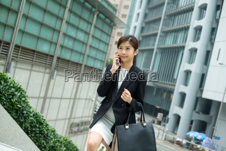 asian, business, woman, walking, up, the - 20116173
