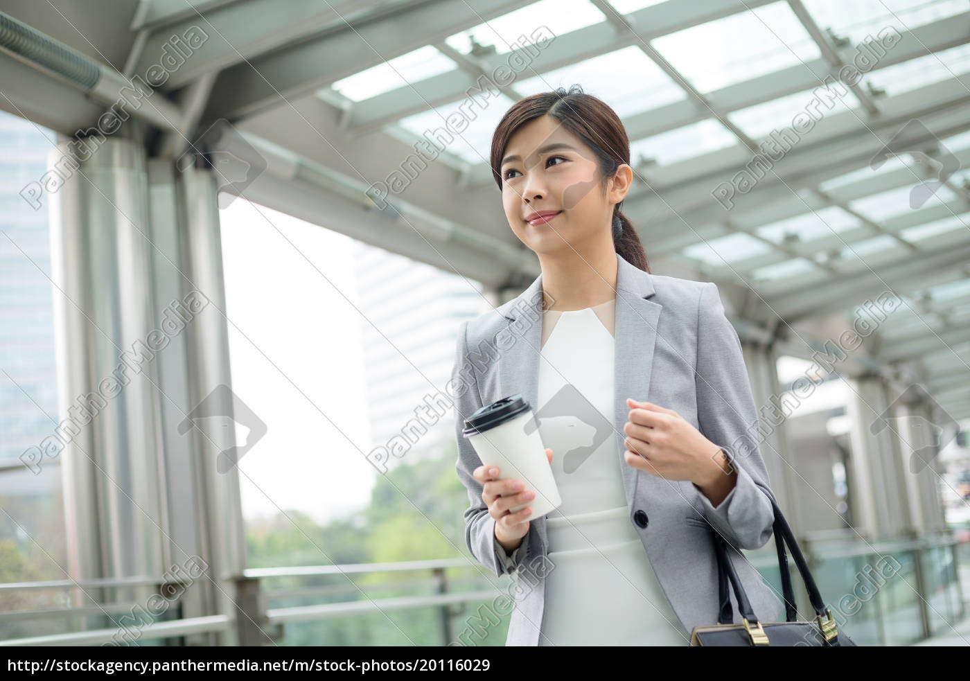 asian, businesswoman, holding, a, coffee, and - 20116029
