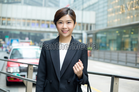 asian, businesswoman, standing, at, outdoor - 20116259