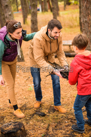 happy, family, collecting, firewood - 20116431