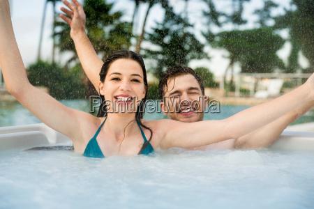 having, fun, in, jacuzzi - 20116365