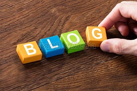 blog, concept, on, wooden, desk - 20117985