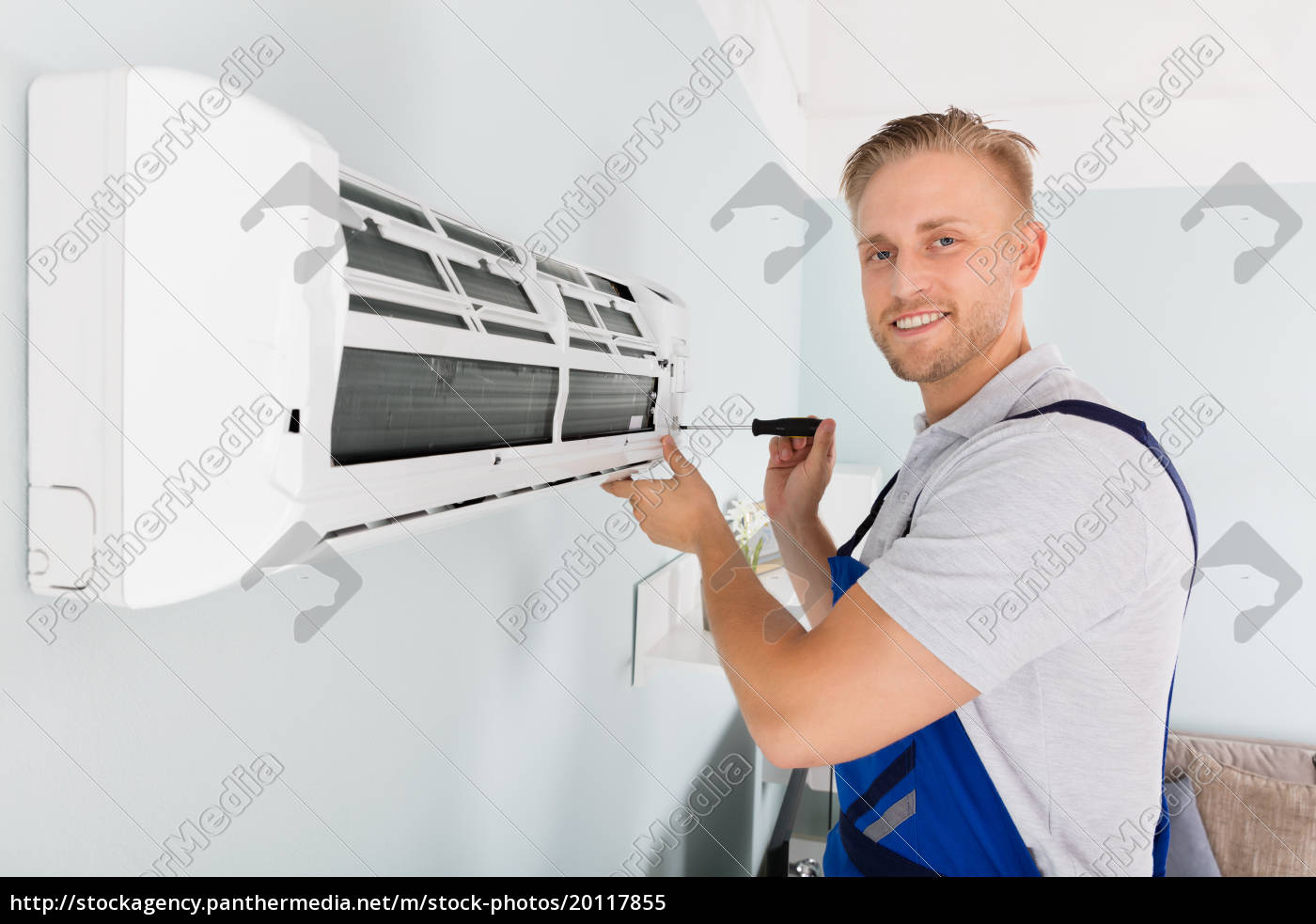 technician, fixing, air, conditioner - 20117855