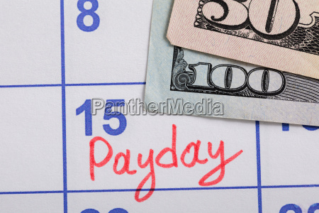 close-up, of, pay, day, reminder, on - 20119297