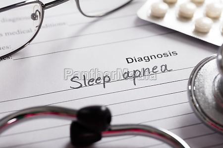diagnosis, sleep, apnea, word, on, paper - 20119317