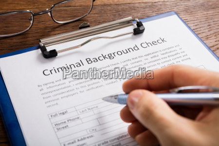 person, filling, criminal, background, check, application - 20119283