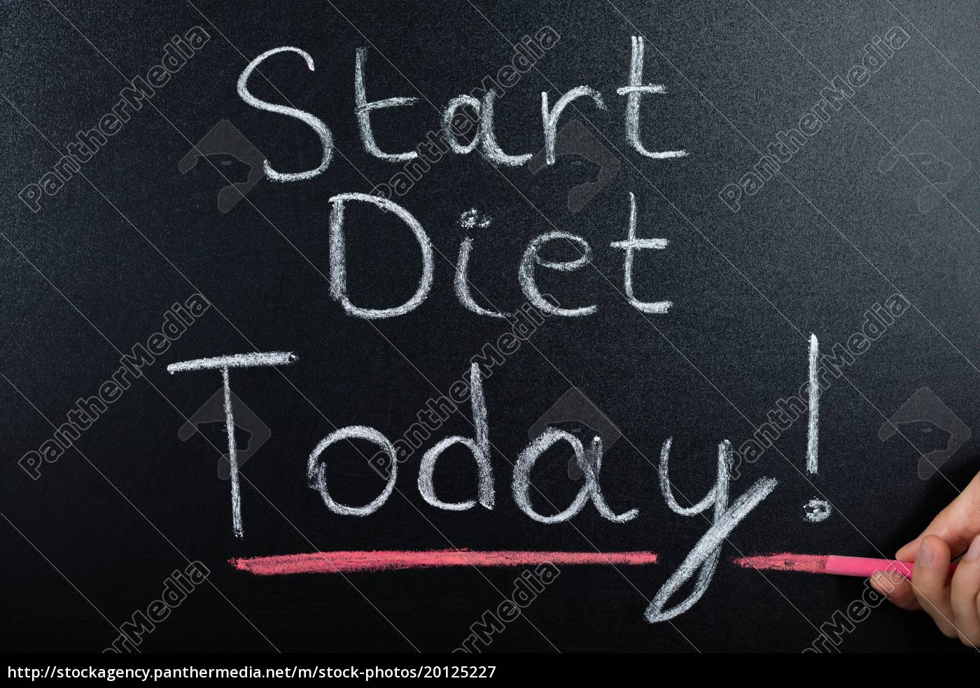 start, diet, concept, on, blackboard - 20125227