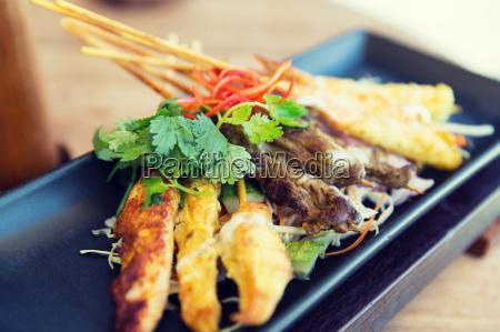 close up of deep fried asian