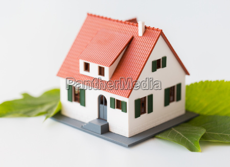 close up of house model and