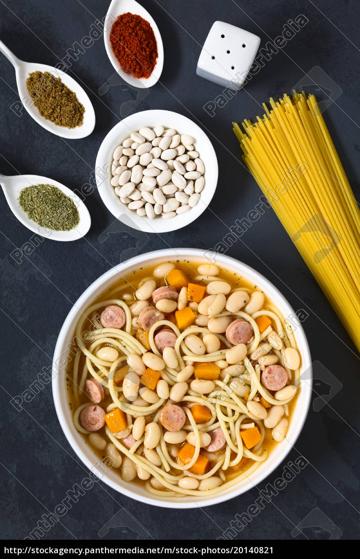 chilean, porotos, con, riendas, , beans, with - 20140821